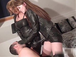 2 leather mistress strapon